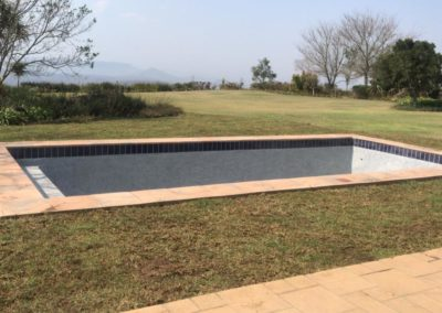 Berea lawn installation around a pool : Camperdown residence