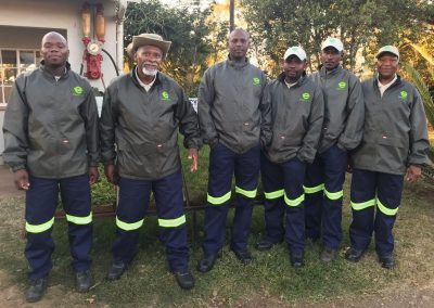 Our  Farm foreman : Lucky,  together with our Drivers : Finas, Jabulani, Joseph, Eric and Bongani (from left to right)